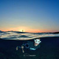 Francesco Sena tramonto apnea Gallipoli