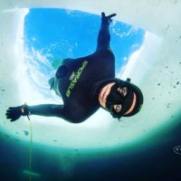 Francesco Sena apea sotto i ghiacci