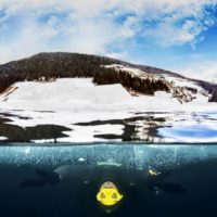 Francesco Sena apnea sotto i ghiacci Italy
